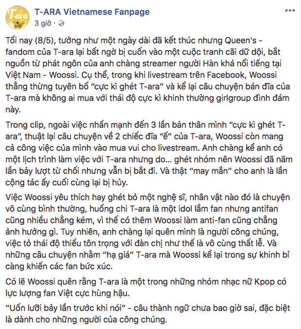 Hotboy Hàn Quốc Woossi vạ miệng chê bai T-ara khiến cộng đồng fan K-Pop phẫn nộ - Ảnh 7.