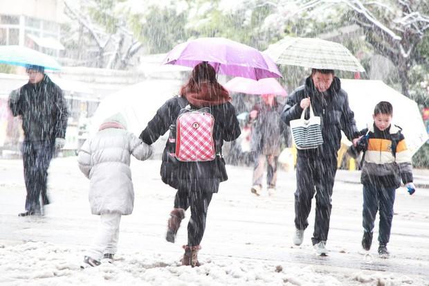 Cảnh tượng lạnh đầy khắc nghiệt tại Trung Quốc: Chị em phụ nữ quấn chăn, bịt kín lái xe máy đi làm - Ảnh 7.