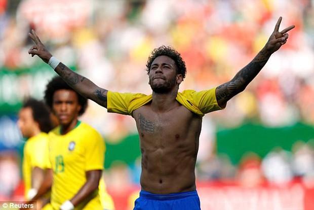 Neymar độc diễn ghi bàn, Brazil thắng đậm trước thềm World Cup 2018 - Ảnh 4.