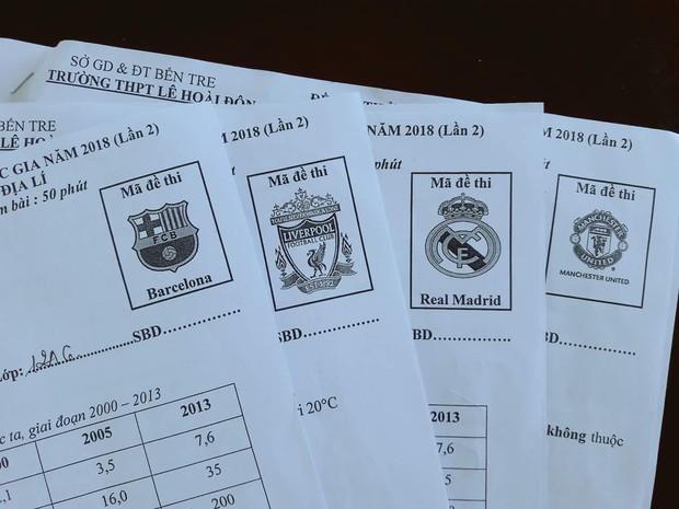Thầy giáo Địa Lý dùng tên các CLB bóng đá hàng đầu làm mã đề thi cho mới lạ - Ảnh 1.
