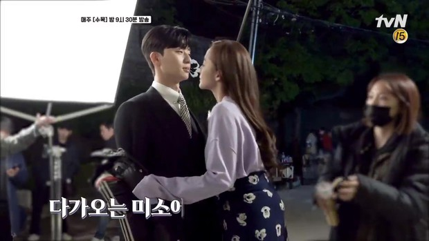 Hậu trường Thư Ký Kim: Park Seo Joon buồn thiu vì Park Min Young quá thân thiết với một người - Ảnh 10.