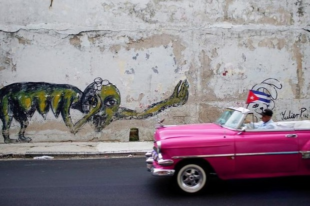 Ảnh: Vẻ đẹp hớp hồn của các xe ô tô cổ trên các góc phố nẻo đường Cuba - Ảnh 2.