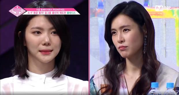 Produce 48: Em út After School nghẹn ngào khi lần đầu đối mặt với đàn chị chung nhóm - Ảnh 3.