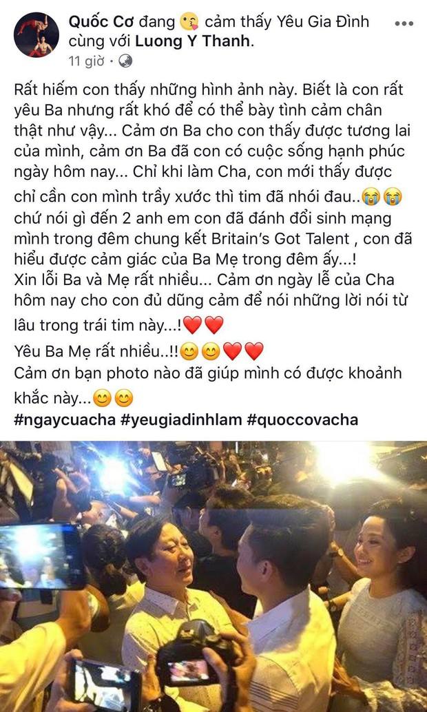 Anh em Quốc Cơ - Quốc Nghiệp cùng dàn sao Việt xúc động chia sẻ tâm sự nhân Ngày của cha - Ảnh 2.