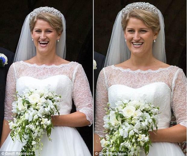 Đám cưới đặc biệt nhất hôm nay: cô dâu đeo vương miện của công nương Diana, Meghan Markle diện váy hơn trăm triệu tham dự - Ảnh 2.