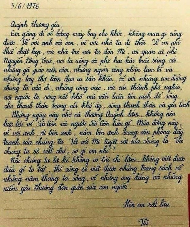 Những bức thư xúc động Lưu Quang Vũ gửi Xuân Quỳnh: Chữ tình trong cuộc sống tạo nên chất tình trong văn thơ - Ảnh 6.