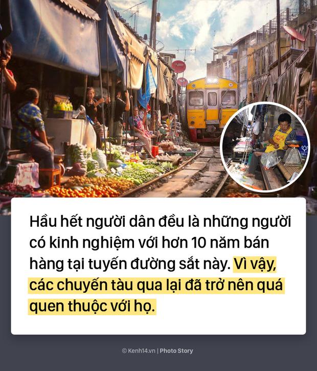 Ở Thái Lan có 1 khu chợ nằm chình ình ngay trên đường ray tàu hỏa - Ảnh 9.