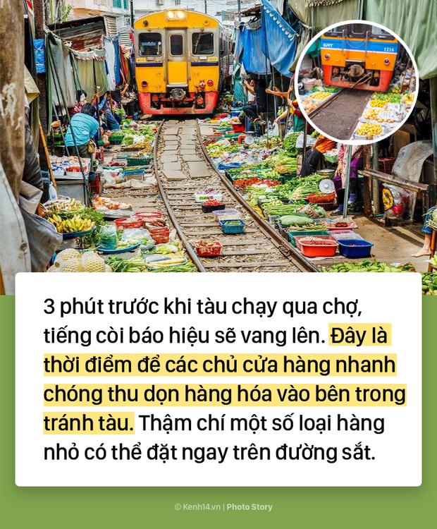 Ở Thái Lan có 1 khu chợ nằm chình ình ngay trên đường ray tàu hỏa - Ảnh 11.