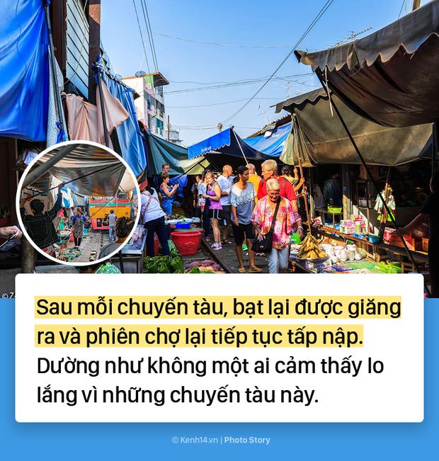 Ở Thái Lan có 1 khu chợ nằm chình ình ngay trên đường ray tàu hỏa - Ảnh 13.