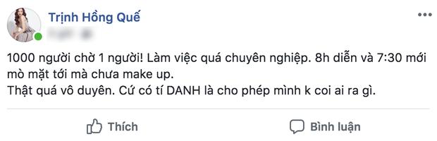 Bị dân mạng ném đá vì status được cho là tố Hương Giang đi trễ, Hồng Quế chia sẻ: Tôi không quan tâm tới dân mạng - Ảnh 3.