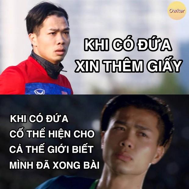 U23 Việt Nam: Không đi thi mà cũng bị dân mạng mang ảnh 50 sắc thái ra chế cháo - Ảnh 9.