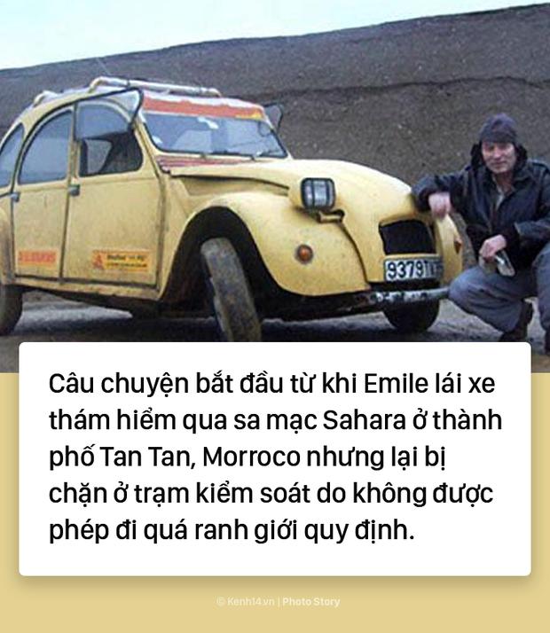 Người đàn ông hô biến ô tô thành xe máy để di chuyển giữa sa mạc Sahara - Ảnh 3.