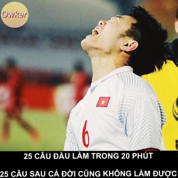 U23 Việt Nam: Không đi thi mà cũng bị dân mạng mang ảnh 50 sắc thái ra chế cháo - Ảnh 1.