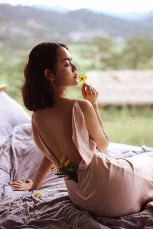 Phạm Quỳnh Anh khoe trọn lưng trần gợi cảm tại Đà Lạt - Ảnh 1.