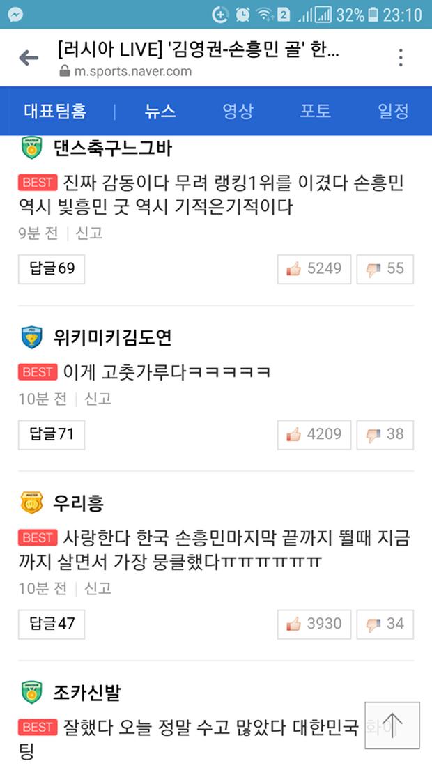 Cư dân mạng Hàn Quốc bày tỏ niềm vui khi đội nhà đánh bại đương kim vô địch World Cup - Ảnh 2.