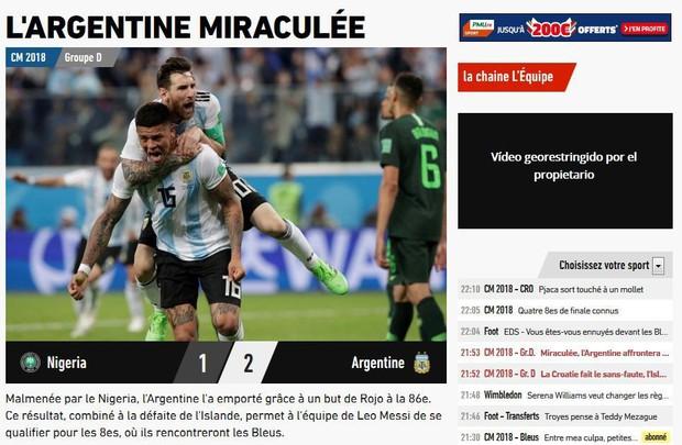 Báo quốc tế quên luôn VAR, ngất ngây khen phép màu Messi, Rojo - Ảnh 4.