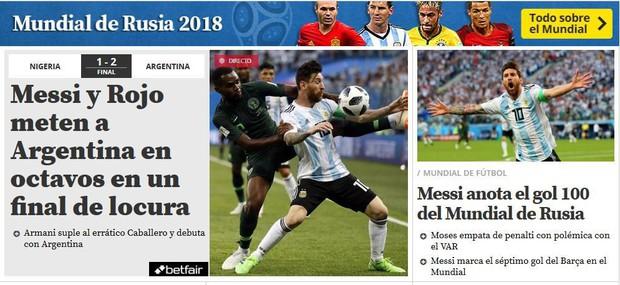 Báo quốc tế quên luôn VAR, ngất ngây khen phép màu Messi, Rojo - Ảnh 6.