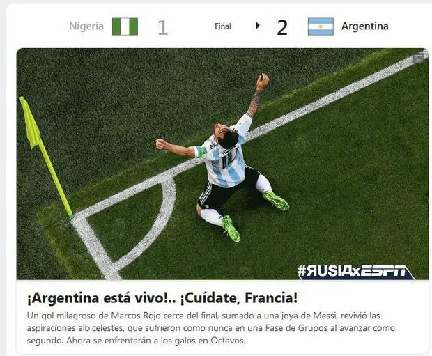 Báo quốc tế quên luôn VAR, ngất ngây khen phép màu Messi, Rojo - Ảnh 9.