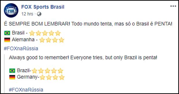 Sau khi cười HAHA vì Đức về nước, fanpage Fox Sports Brasil vẫn liên tục đăng ảnh trêu cho đã thì thôi - Ảnh 2.