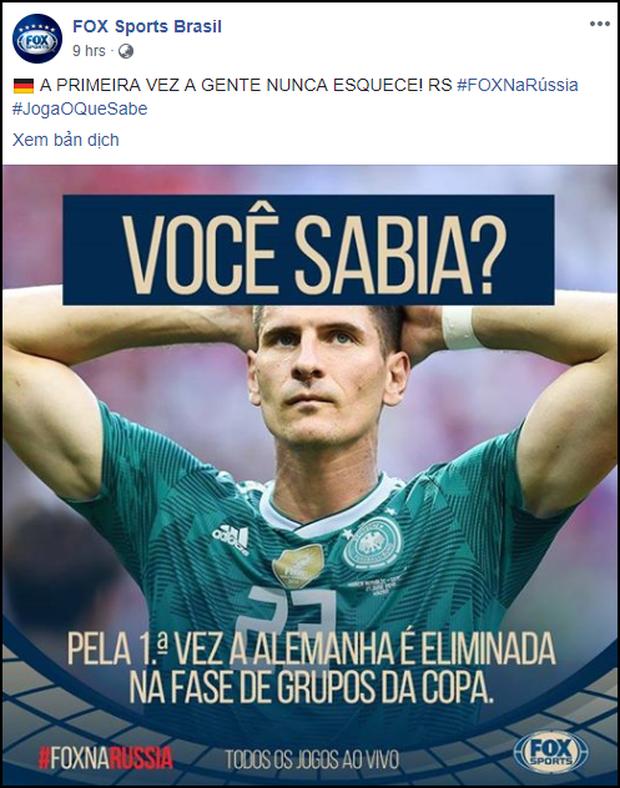 Sau khi cười HAHA vì Đức về nước, fanpage Fox Sports Brasil vẫn liên tục đăng ảnh trêu cho đã thì thôi - Ảnh 10.