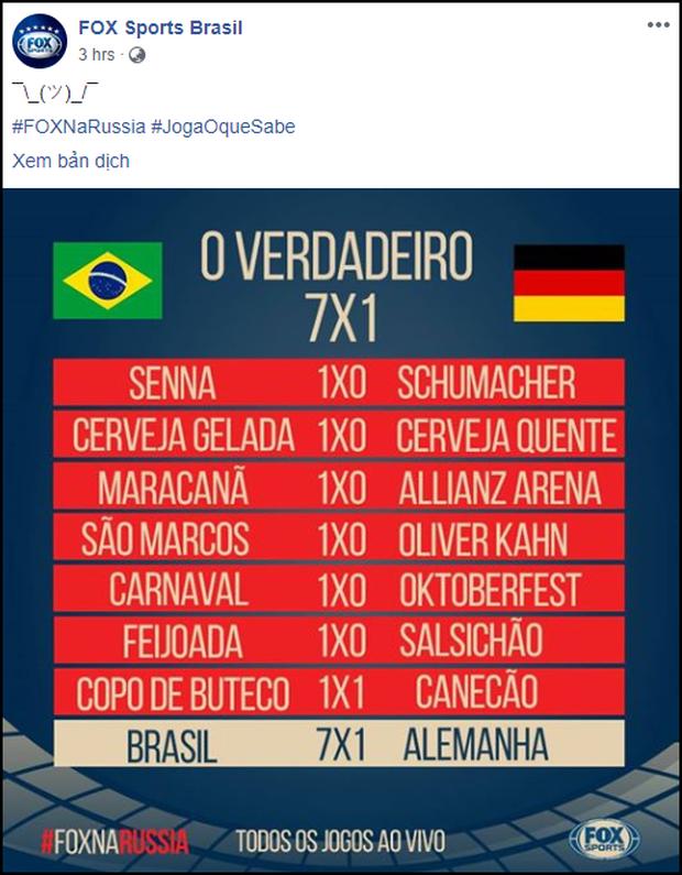 Sau khi cười HAHA vì Đức về nước, fanpage Fox Sports Brasil vẫn liên tục đăng ảnh trêu cho đã thì thôi - Ảnh 12.
