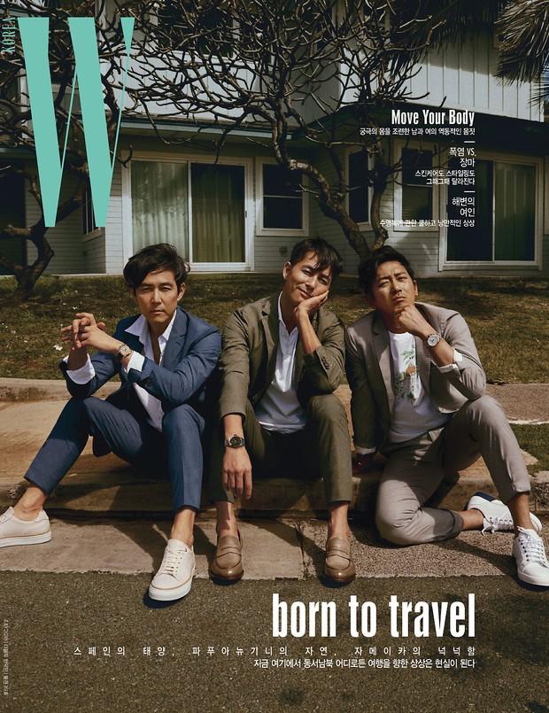 Hình hậu trường khó tin của 3 ông chú độc thân hấp dẫn nhất xứ Hàn: Đẹp như phim, các tài tử trẻ còn phải chạy dài - Ảnh 2.