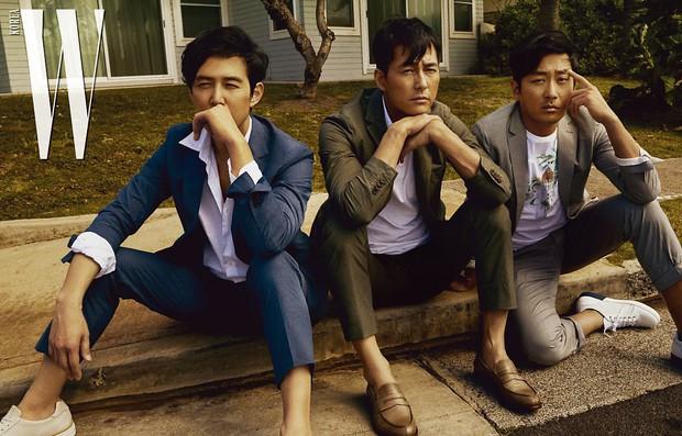 Hình hậu trường khó tin của 3 ông chú độc thân hấp dẫn nhất xứ Hàn: Đẹp như phim, các tài tử trẻ còn phải chạy dài - Ảnh 1.