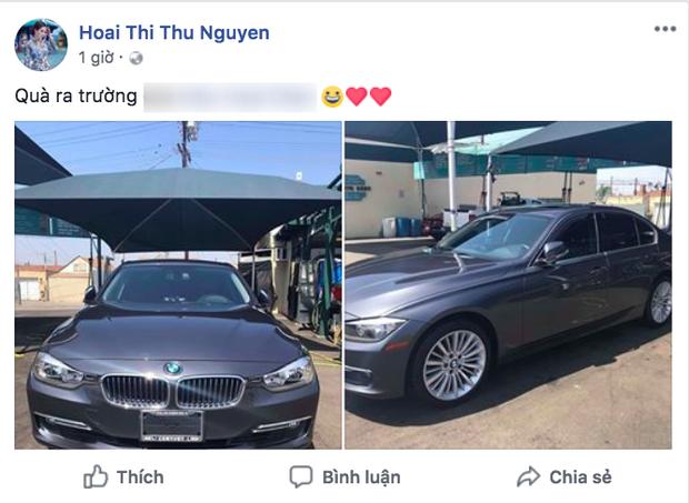 Hoa hậu Thu Hoài khoe ảnh tặng con gái hẳn một chiếc xế hộp tiền tỷ trong ngày tốt nghiệp - Ảnh 1.