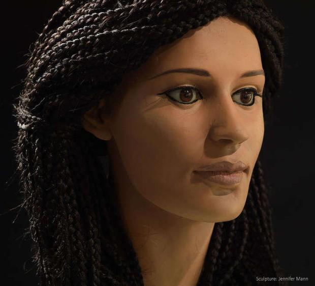 Dùng công nghệ mới dựng lại mặt xác ướp của một mỹ nhân Ai Cập và đây là kết quả - Ảnh 4.