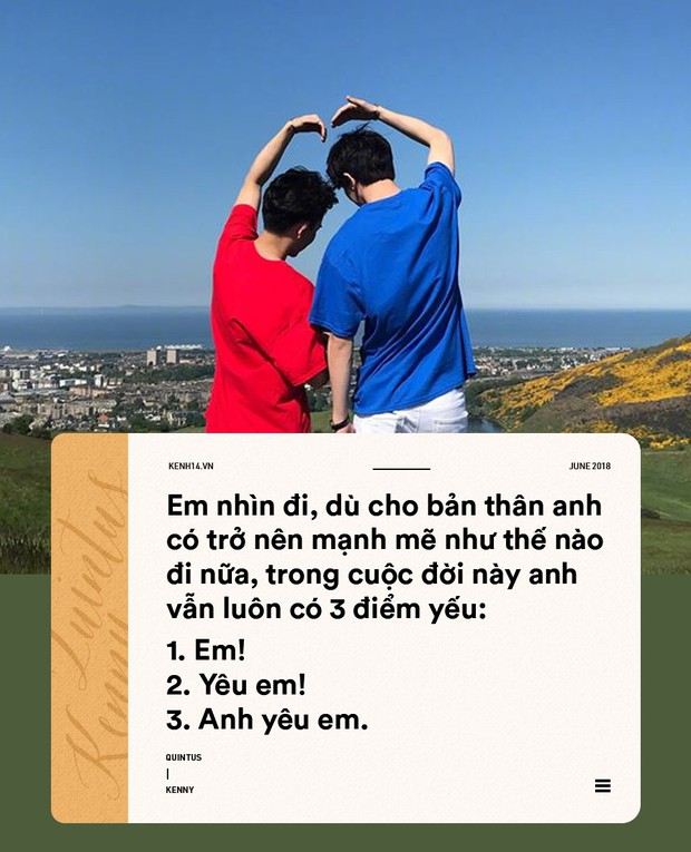 Tuyển tập những câu nói ngọt ngào hơn ngôn tình của cặp đôi đồng tính Quintus và Kenny - Ảnh 4.