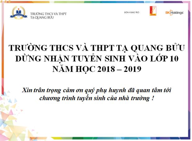 Tăng điểm chuẩn như chơi chứng khoán từ 46 lên 50.5 rồi đột ngột ngưng tuyển sinh, trường Tạ Quang Bửu khiến nhiều cha mẹ bật khóc - Ảnh 1.
