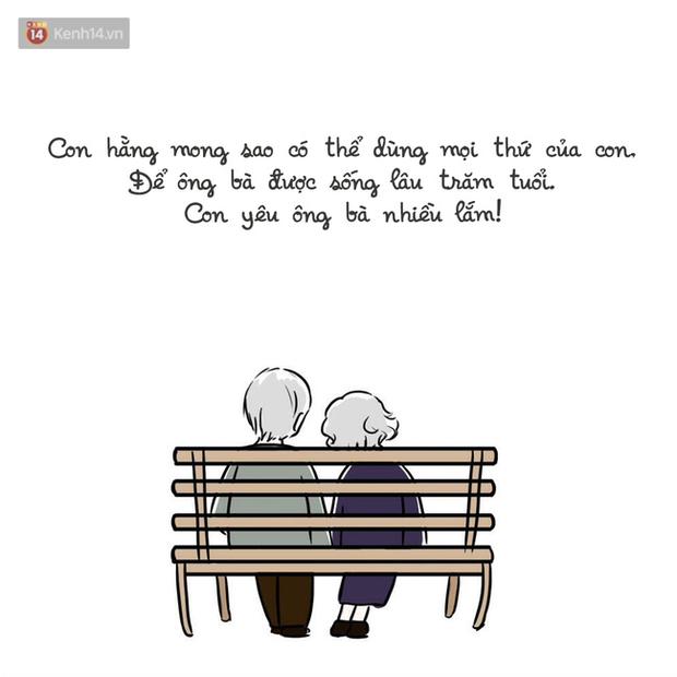 Bộ tranh: Liệu trên đời có hạnh phúc nào ấm áp hơn việc được ông bà yêu thương? - Ảnh 19.
