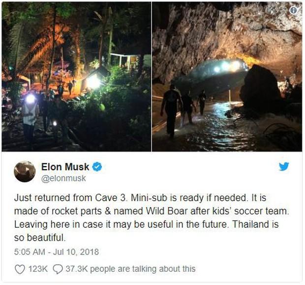 Đội bóng Thái Lan mắc kẹt trong hang đã nhận được tàu ngầm mini của Elon Musk, sẵn sàng tác chiến giải cứu - Ảnh 1.