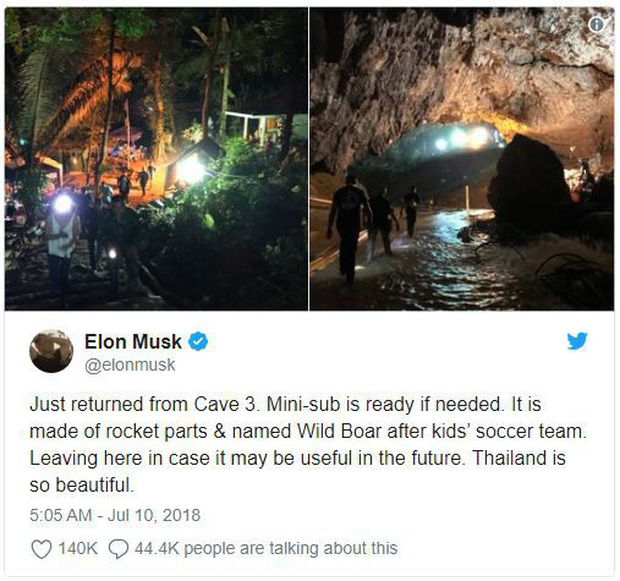 Tàu ngầm giải cứu đã xong và được đích thân Elon Musk mang tới Thái Lan - Ảnh 1.