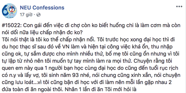 Nói dối với bạn trai có bằng thạc sĩ, nhà Hà Nội việc mình biết nấu ăn, cô gái bị mắng khéo trèo cao - Ảnh 1.