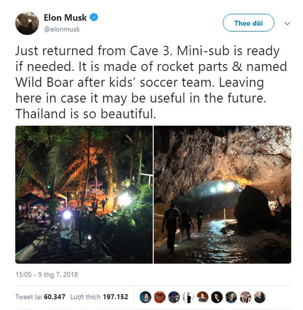 Giải cứu đội bóng Thái Lan: Mark Zuckerberg gửi lời chúc mừng vì đã cứu được 8 trong số 13 người mắc kẹt, Elon Musk thậm chí đã tới tận nơi giúp đỡ - Ảnh 2.