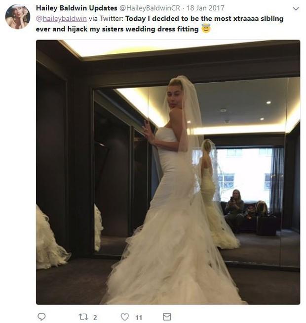 Rộ hình ảnh Hailey Baldwin thử váy cưới chỉ sau 3 ngày đính hôn với Justin Bieber và sự thật đằng sau - Ảnh 3.