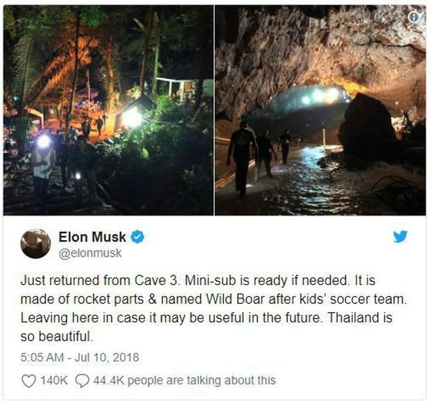 Phải chăng Elon Musk nhiệt tình tham gia giải cứu đội bóng Thái Lan để lăng xê hình tượng là chính? - Ảnh 1.