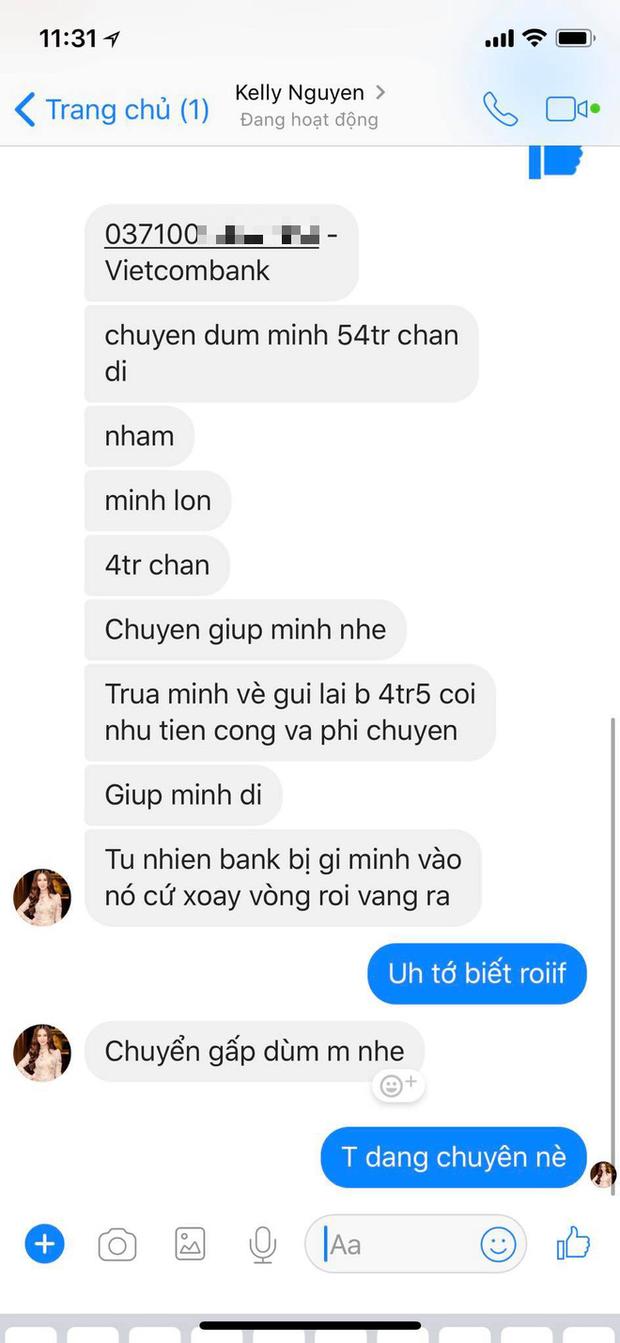 Kelly Nguyễn inbox Huyền Baby mượn tiền: Cẩn thận, là hacker đấy! - Ảnh 3.