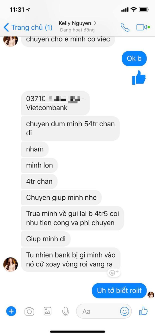 Kelly Nguyễn inbox Huyền Baby mượn tiền: Cẩn thận, là hacker đấy! - Ảnh 2.