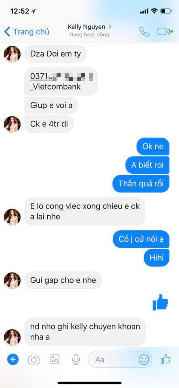 Kelly Nguyễn inbox Huyền Baby mượn tiền: Cẩn thận, là hacker đấy! - Ảnh 4.