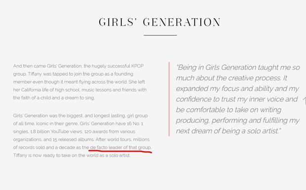 Rời SNSD, Tiffany tự xưng là thủ lĩnh không chính thức của nhóm? - Ảnh 1.