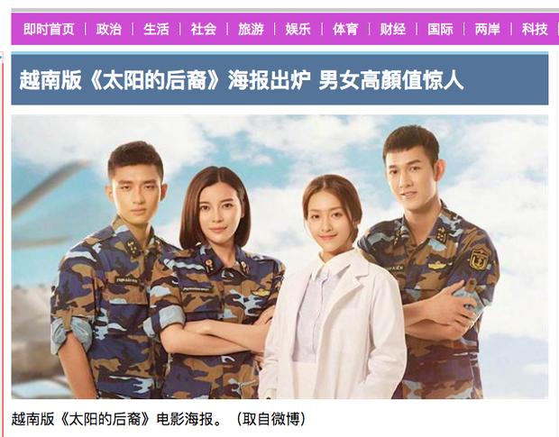 Diễn viên Hậu Duệ Mặt Trời bản Việt được khen ngợi trên báo Trung Quốc - Ảnh 2.