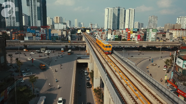 Đường sắt Cát Linh - Hà Đông chạy thử tàu - Ảnh 2.