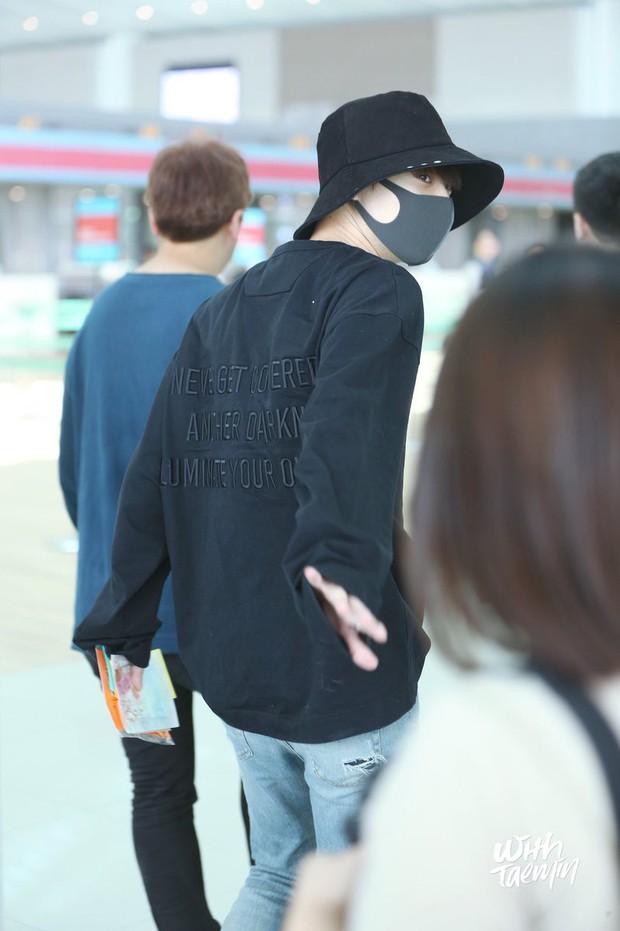 Nam thần đình đám Taemin (SHINee) bất ngờ có mặt ở Đà Nẵng, bịt kín nhưng vẫn bị fan phục kích tại sân bay - Ảnh 7.