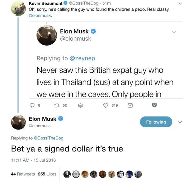Elon Musk đăng status nói thợ lặn cứu đội bóng Thái Lan là kẻ ấu dâm, không hiểu sao giờ đã xóa mất hút - Ảnh 4.