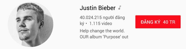 Trước thềm ra bài mới, Justin Bieber trở thành nghệ sĩ đầu tiên cán mốc 40 triệu người theo dõi Youtube - Ảnh 4.