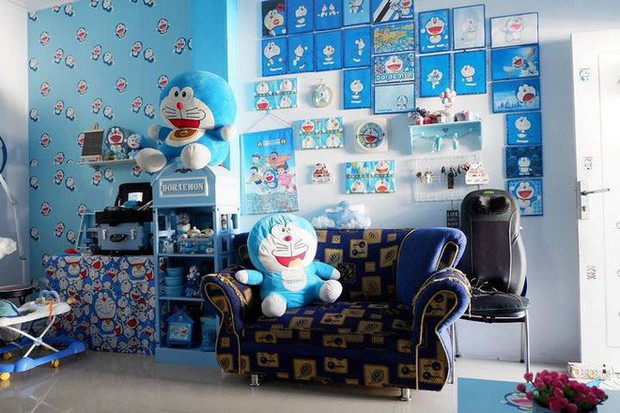 Gia đình kỳ lạ tại Indonesia cuồng Doraemon tới nỗi dán hình Doraemon khắp ngôi nhà - Ảnh 12.