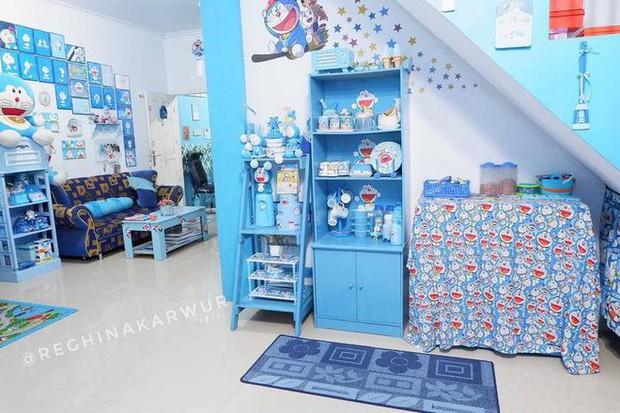 Gia đình kỳ lạ tại Indonesia cuồng Doraemon tới nỗi dán hình Doraemon khắp ngôi nhà - Ảnh 16.