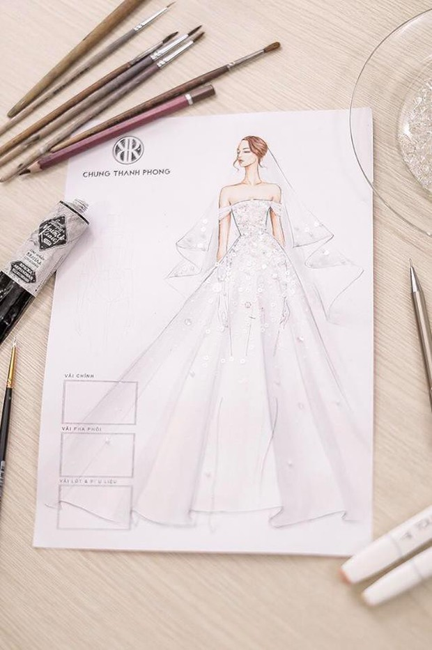 Đây chính là chiếc váy cưới trong mơ mà Á hậu Tú Anh sẽ mặc trong đám cưới tối nay - Ảnh 6.